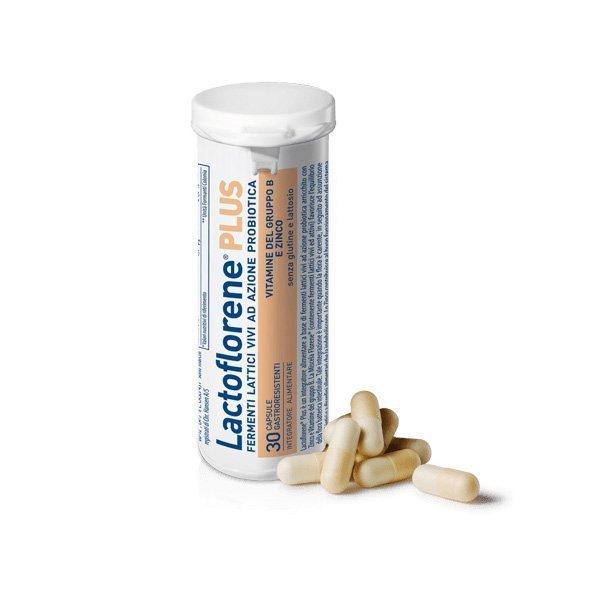 Lactoflorene Plus 30 fermenti lattici vivi a azione probiotica in capsule gastroresistenti. Farmacia Denina
