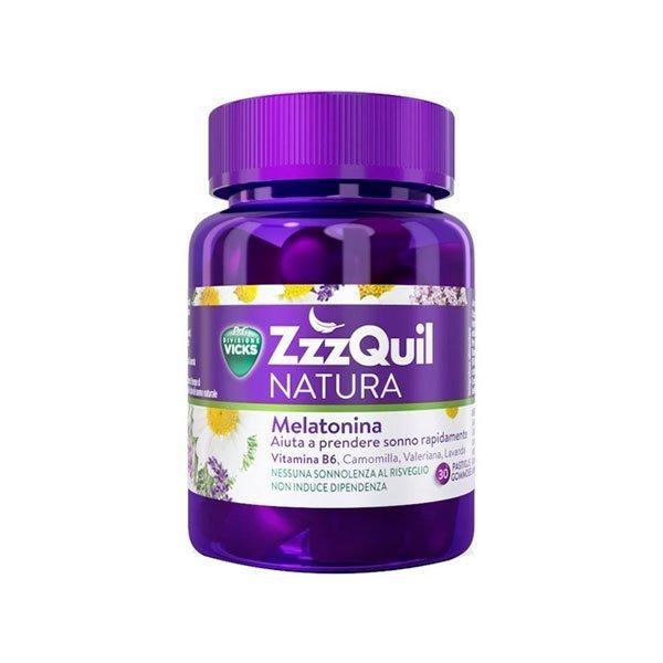 ZzzQuil NATURA™, integratore naturale per il sonno (30 pastiglie gommose)