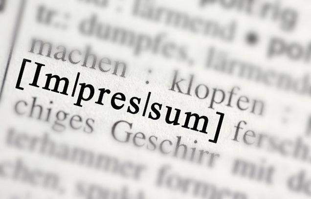 Impressum, significato
